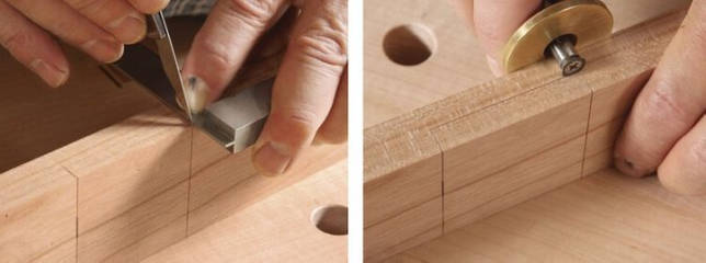 Соединение «шип-паз»: шипорезное приспособление и фрезы для ручного фрезера